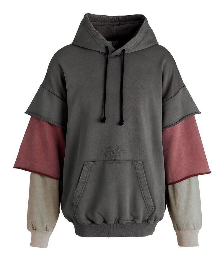 Multi-Layered Cotton Hoodie image 0