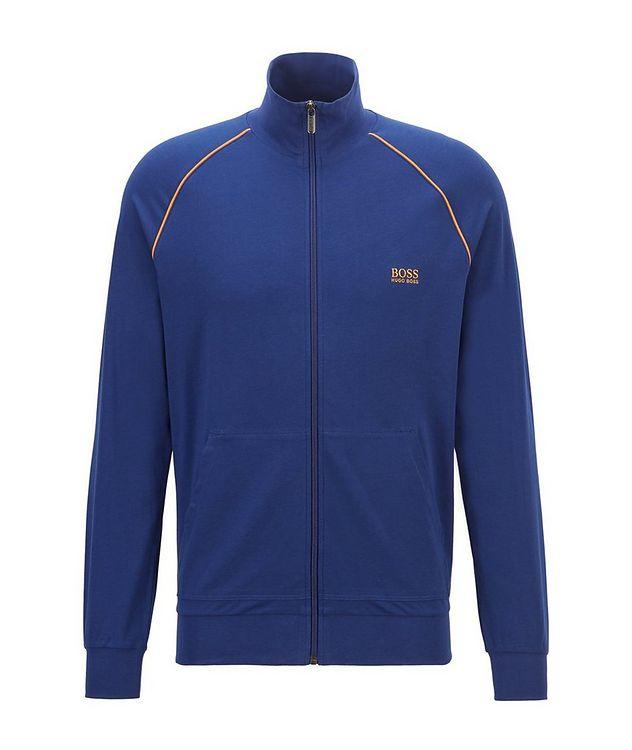 Mix & Match Zip-Up Stretch-Cotton Sweatshirt picture 1