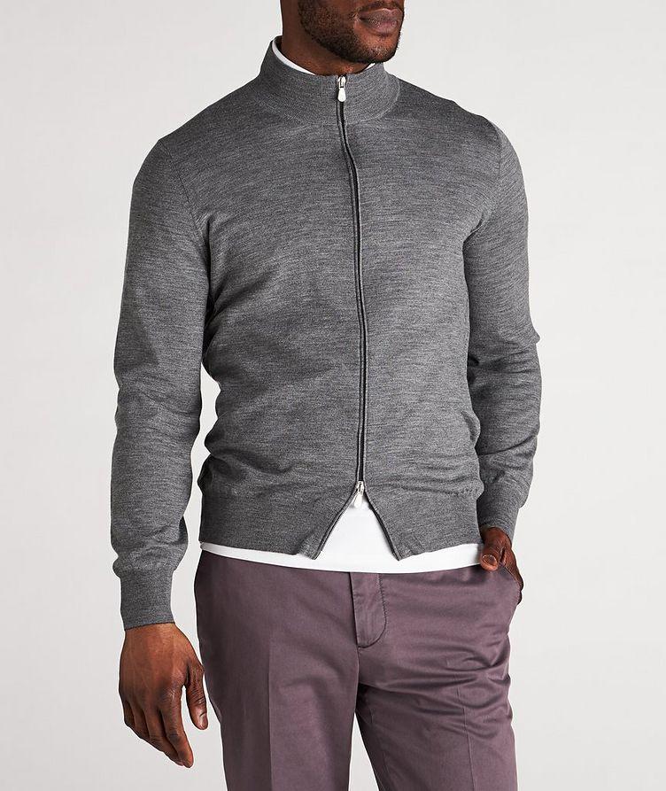 Zip-Up Wool-Cashmere Cardigan image 1