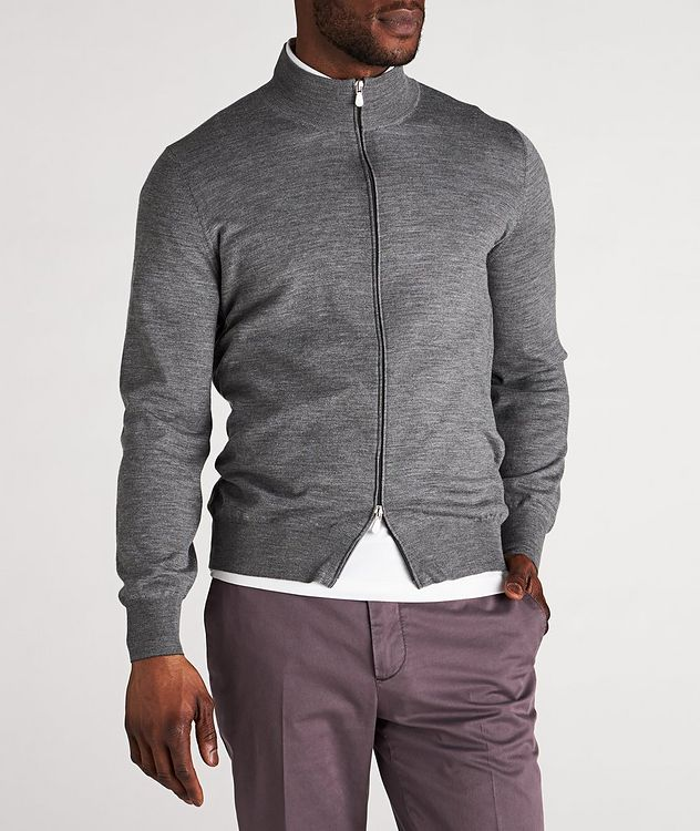 Zip-Up Wool-Cashmere Cardigan picture 2