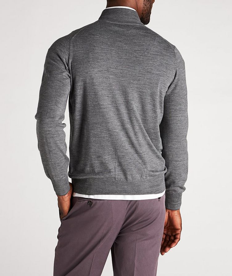 Zip-Up Wool-Cashmere Cardigan image 2