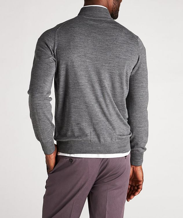 Zip-Up Wool-Cashmere Cardigan picture 3