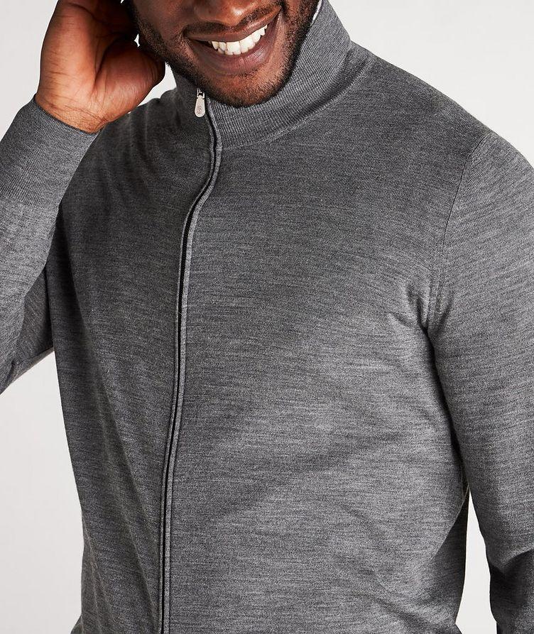 Zip-Up Wool-Cashmere Cardigan image 3