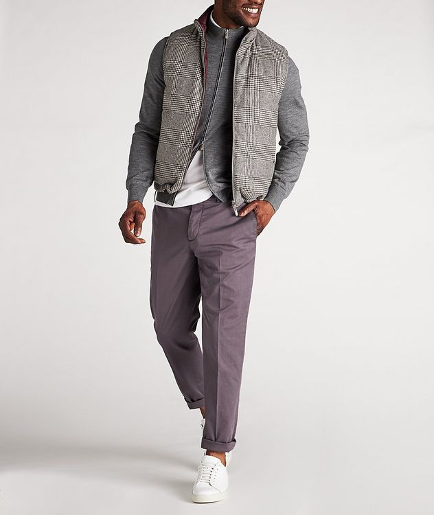 Zip-Up Wool-Cashmere Cardigan picture 5