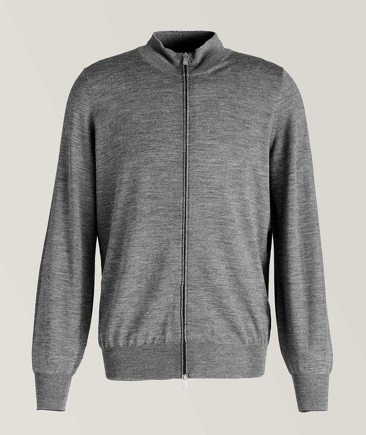 Zip-Up Wool-Cashmere Cardigan image 0
