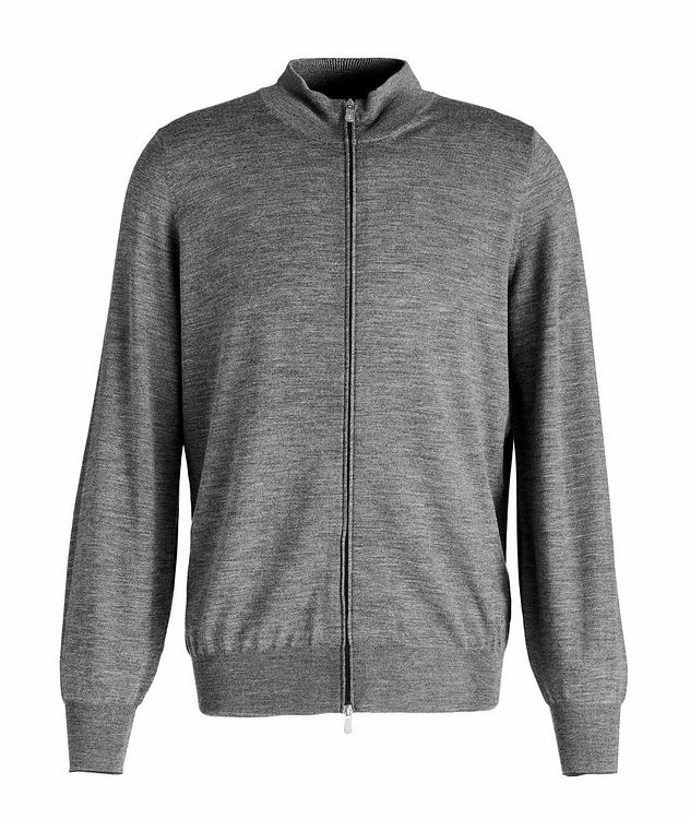 Zip-Up Wool-Cashmere Cardigan picture 1