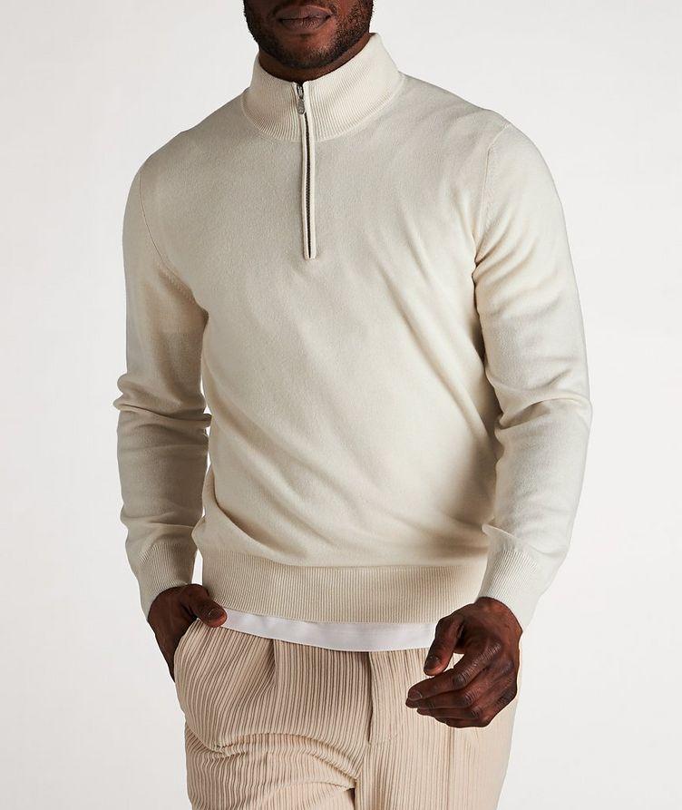 Half-Zip Cashmere Cardigan image 1