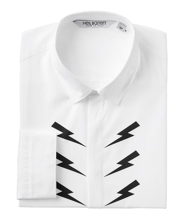 Printed Thunderbolt Cotton Sport Shirt picture 1