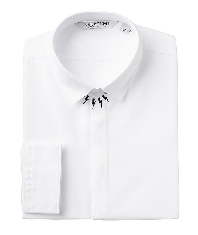 Printed Thunderbolt Cotton Sport Shirt image 0