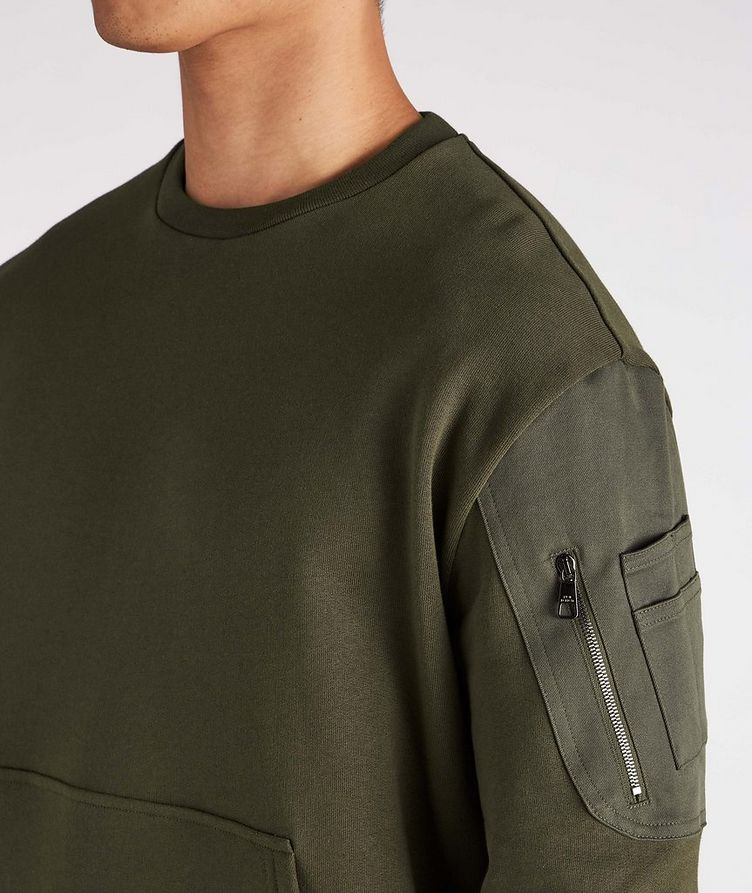 Cotton Bomber Sweatshirt image 3