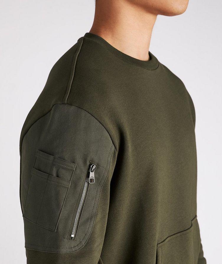 Cotton Bomber Sweatshirt image 4