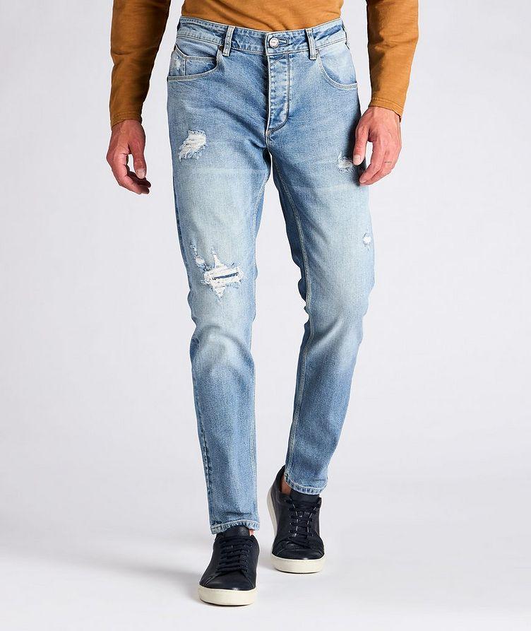 Rey Slim Fit Distressed Jeans image 1