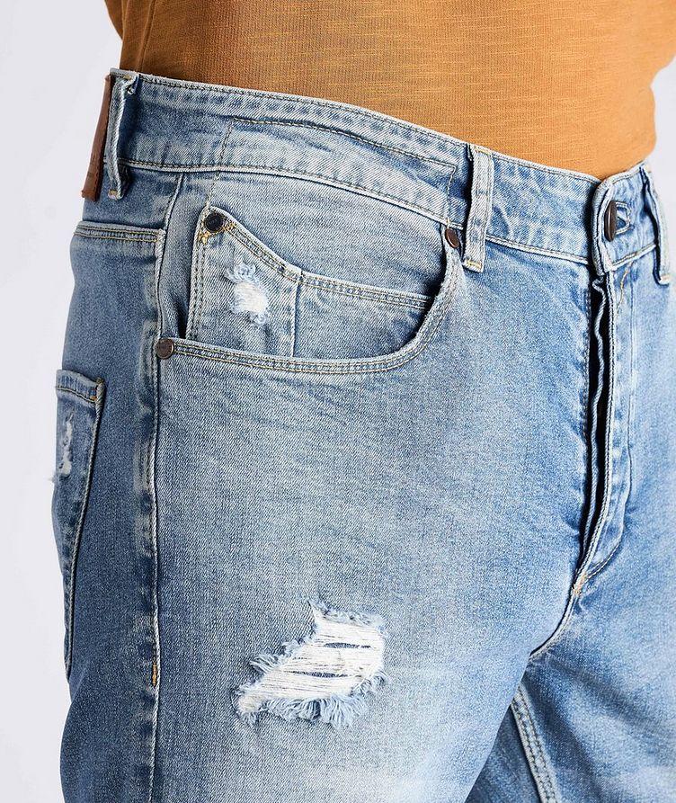 Rey Slim Fit Distressed Jeans image 3