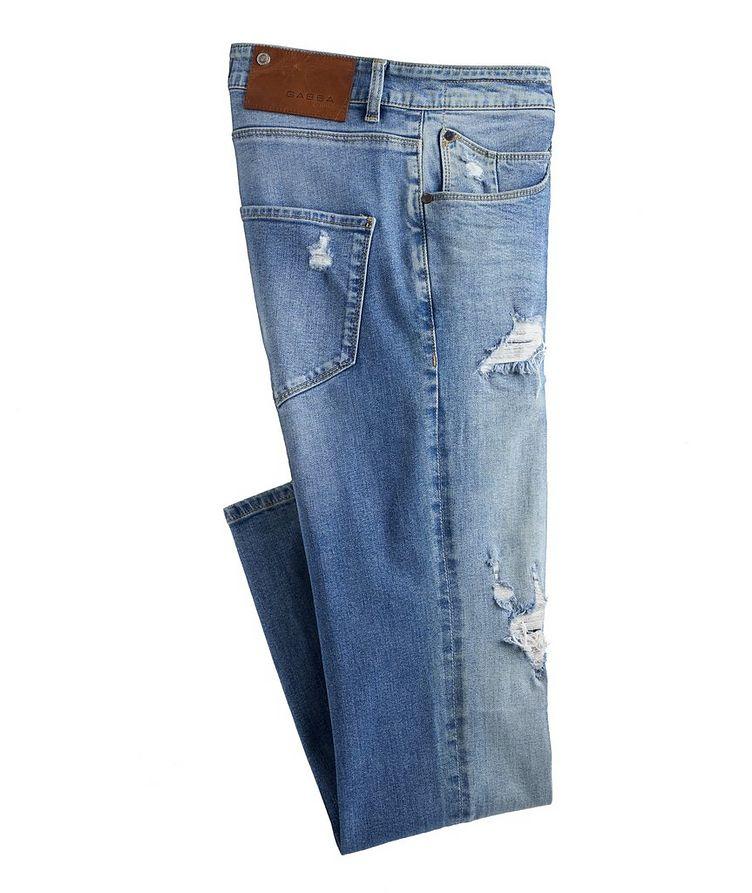 Rey Slim Fit Distressed Jeans image 0