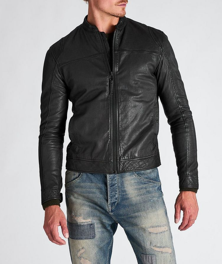 Benton Roll Leather Jacket image 0