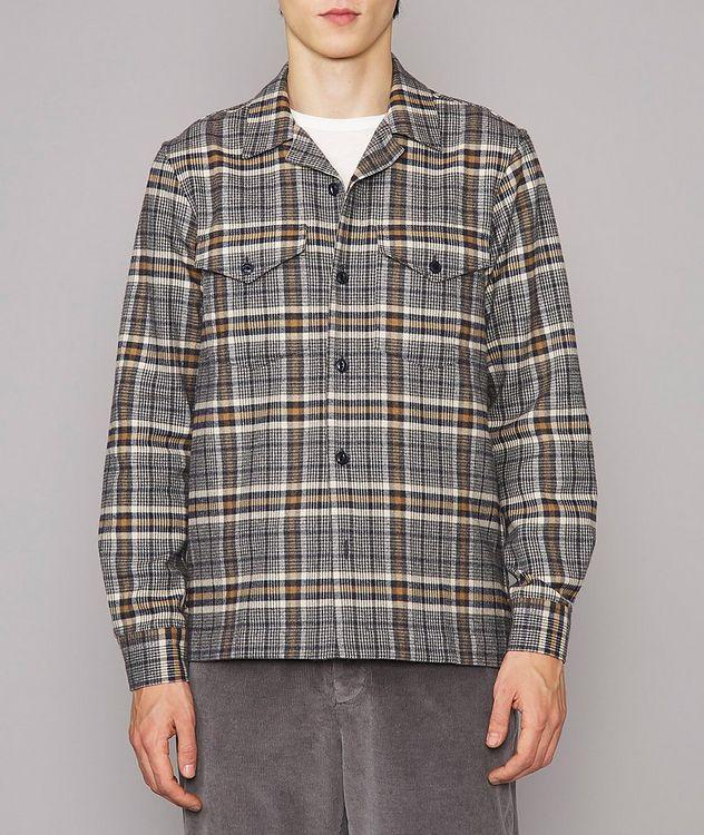 Jonas Plaid Flannel Cotton Overshirt picture 2