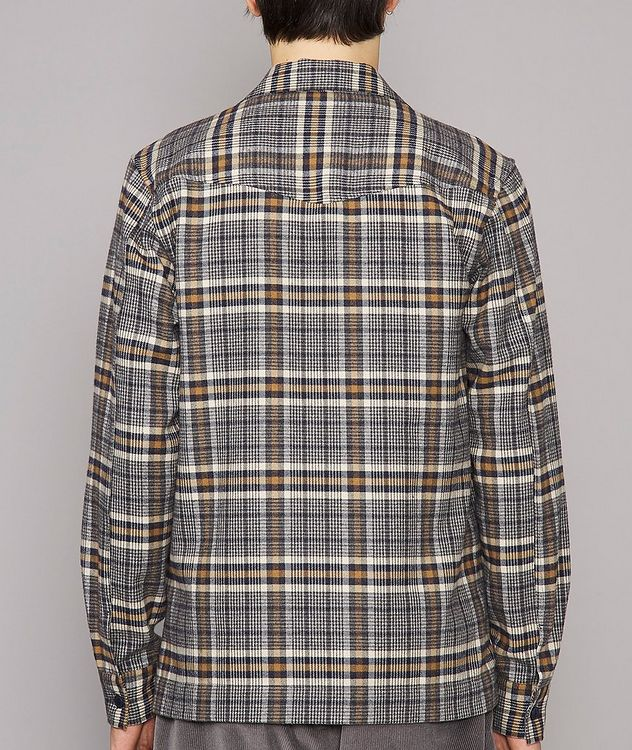 Jonas Plaid Flannel Cotton Overshirt picture 3
