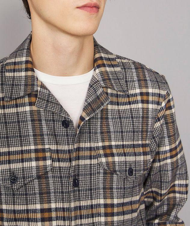 Jonas Plaid Flannel Cotton Overshirt picture 4