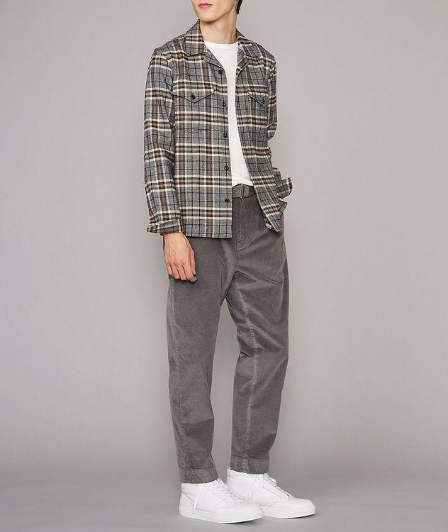 Jonas Plaid Flannel Cotton Overshirt picture 5