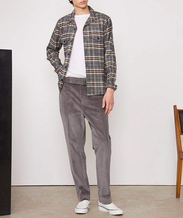 Jonas Plaid Flannel Cotton Overshirt picture 6