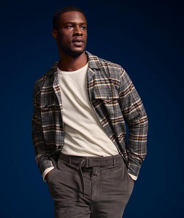 Jonas Plaid Flannel Cotton Overshirt picture 7