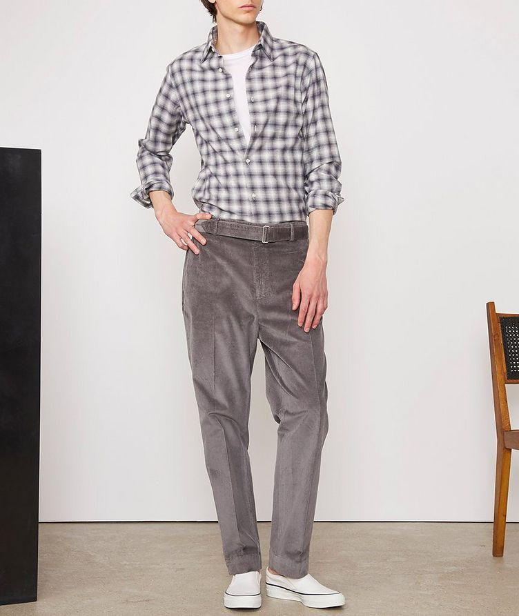 Giacomo Checked Cotton-Blend Sport Shirt image 4