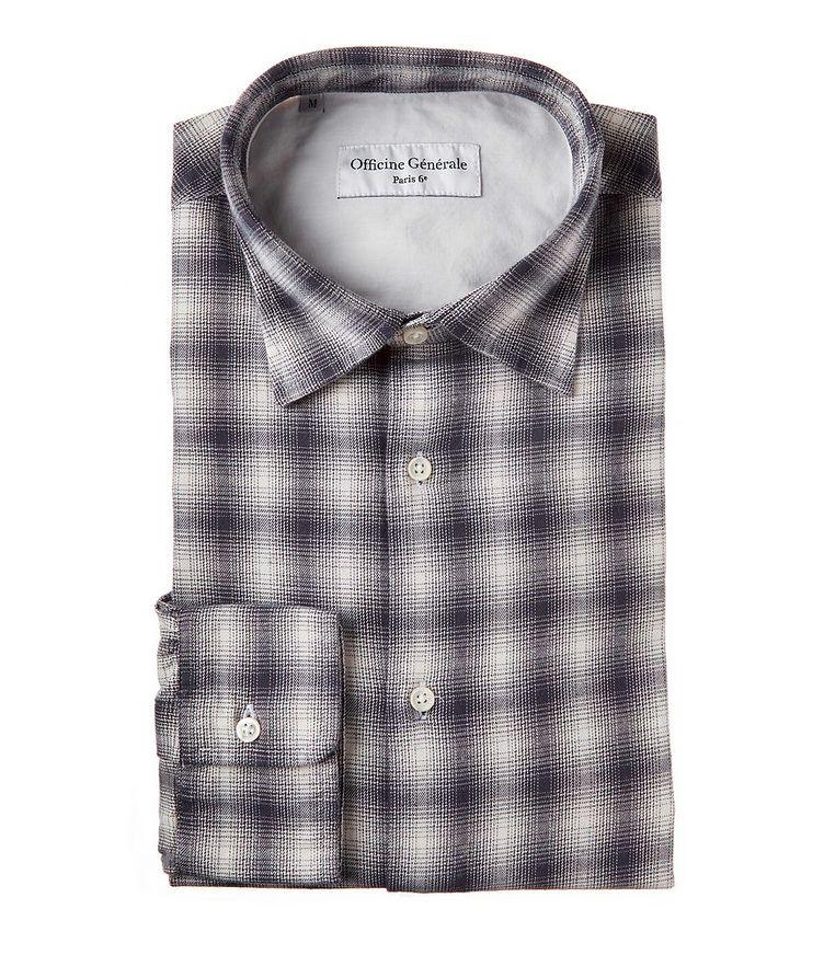 Giacomo Checked Cotton-Blend Sport Shirt image 0