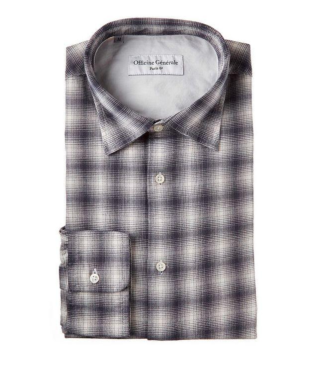 Giacomo Checked Cotton-Blend Sport Shirt picture 1