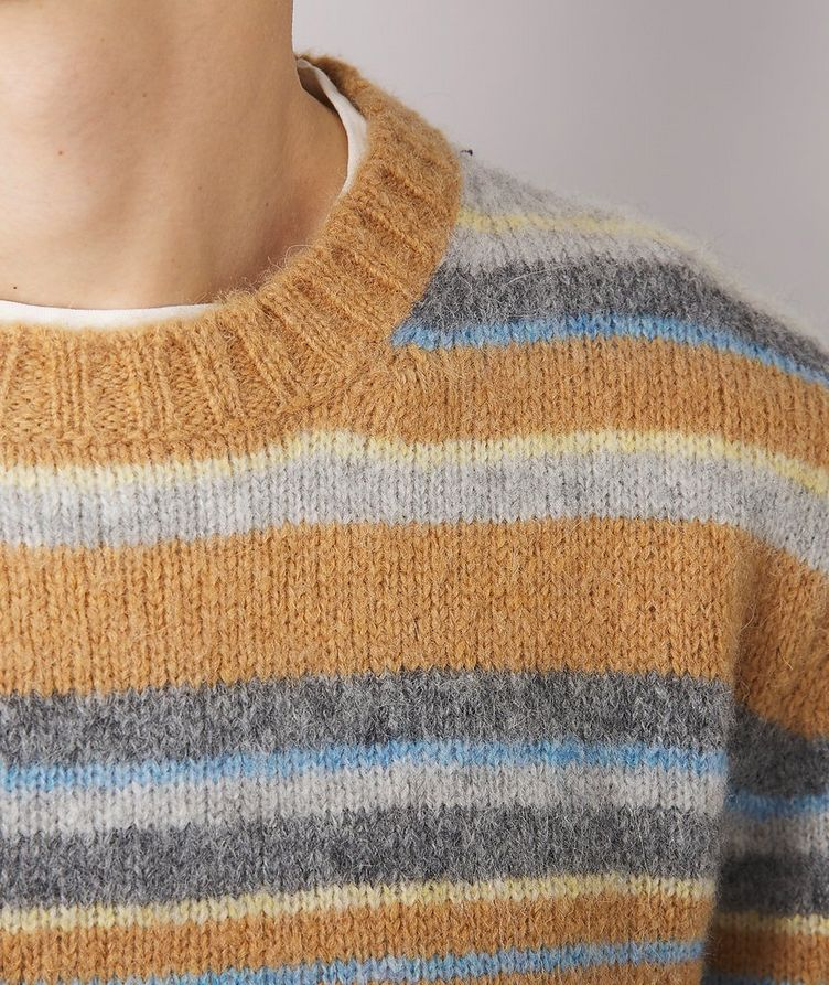 Marco Striped Alpaca-Wool-Blend Sweater image 3