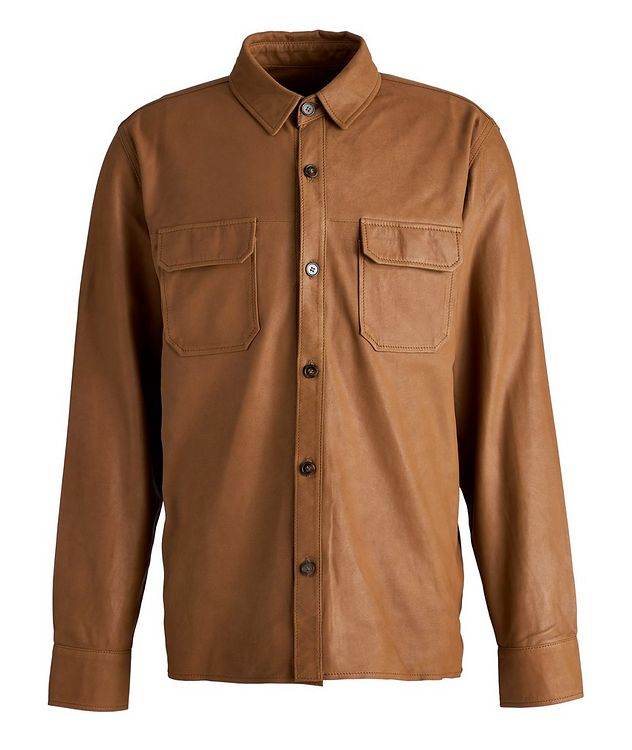 Amael Goat Suede Overshirt Jacket picture 1