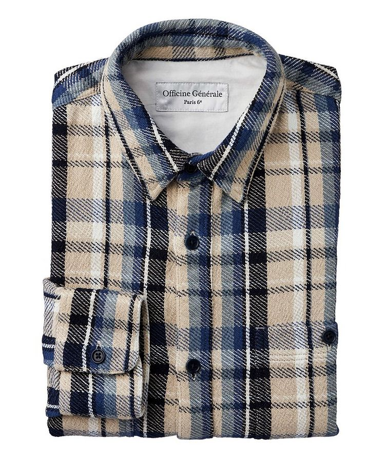 Ahmad Checked Cotton Sport Shirt image 0