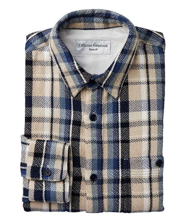 Ahmad Checked Cotton Sport Shirt picture 1