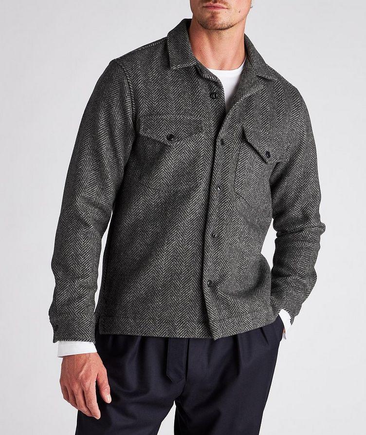 Jonas Herringbone Wool Overshirt image 1