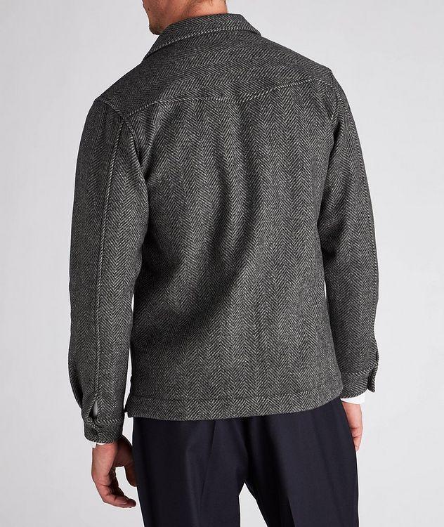 Jonas Herringbone Wool Overshirt picture 3