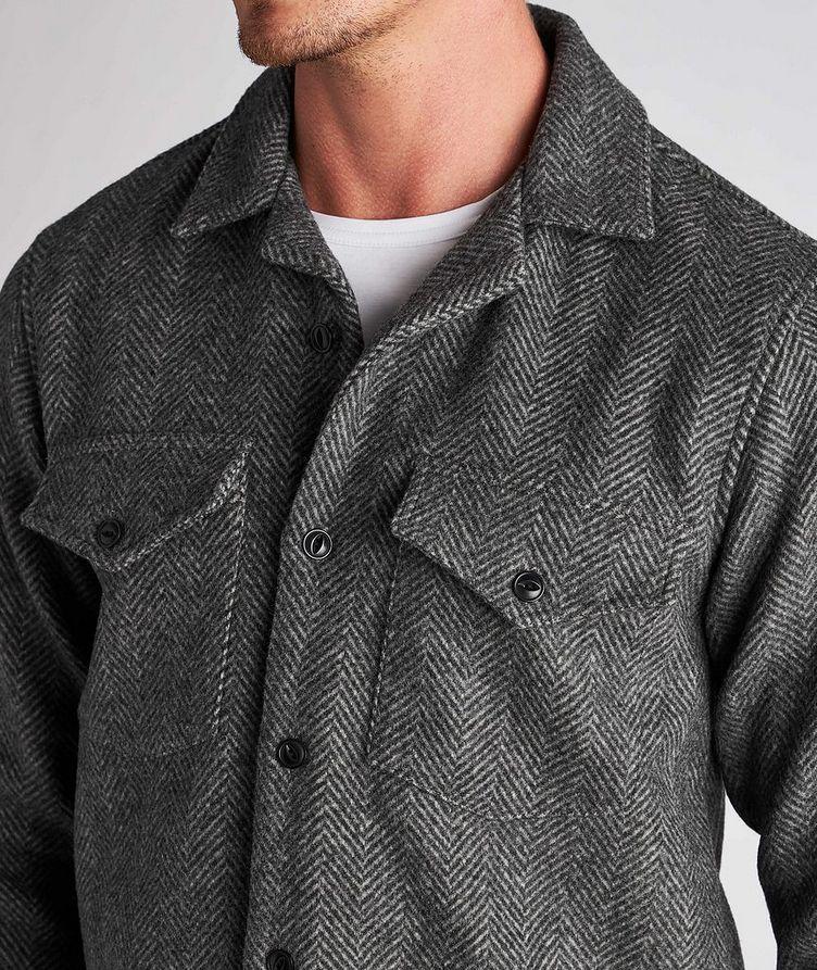 Jonas Herringbone Wool Overshirt image 3