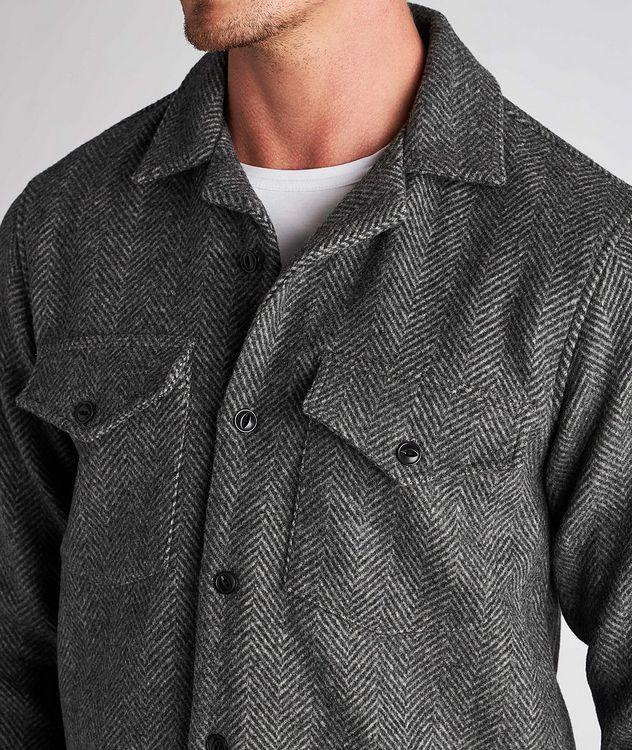 Jonas Herringbone Wool Overshirt picture 4