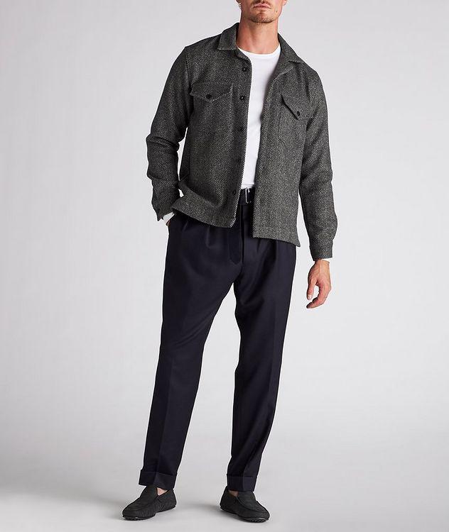 Jonas Herringbone Wool Overshirt picture 5