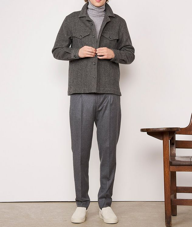 Jonas Herringbone Wool Overshirt picture 6