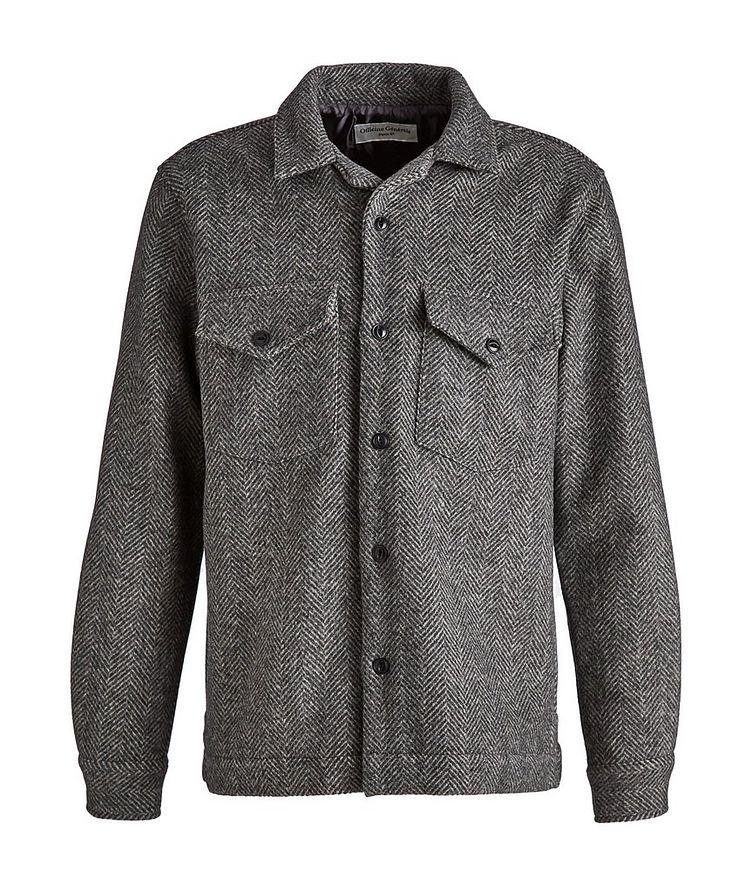 Jonas Herringbone Wool Overshirt image 0