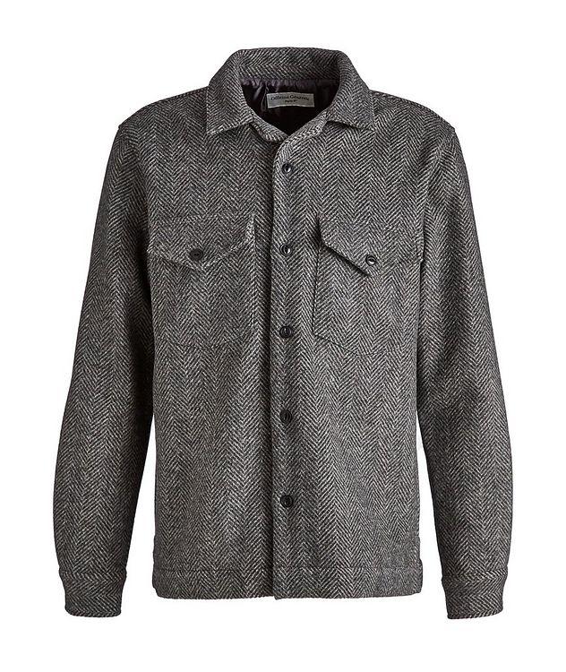 Jonas Herringbone Wool Overshirt picture 1