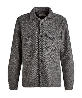 Officine Generale Jonas Herringbone Wool Overshirt