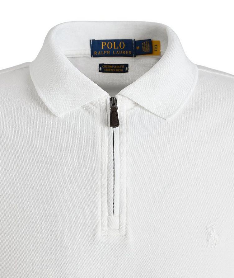 Slim Fit Stretch Mesh Polo image 1