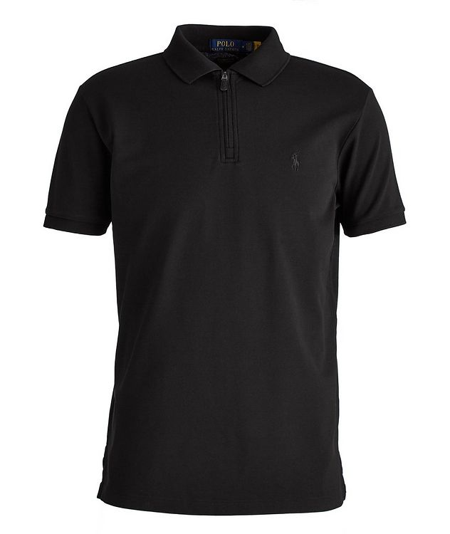 Slim Fit Stretch Mesh Polo picture 1