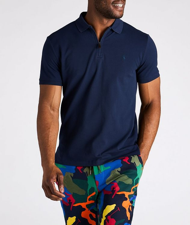 Slim Fit Stretch Mesh Polo picture 3