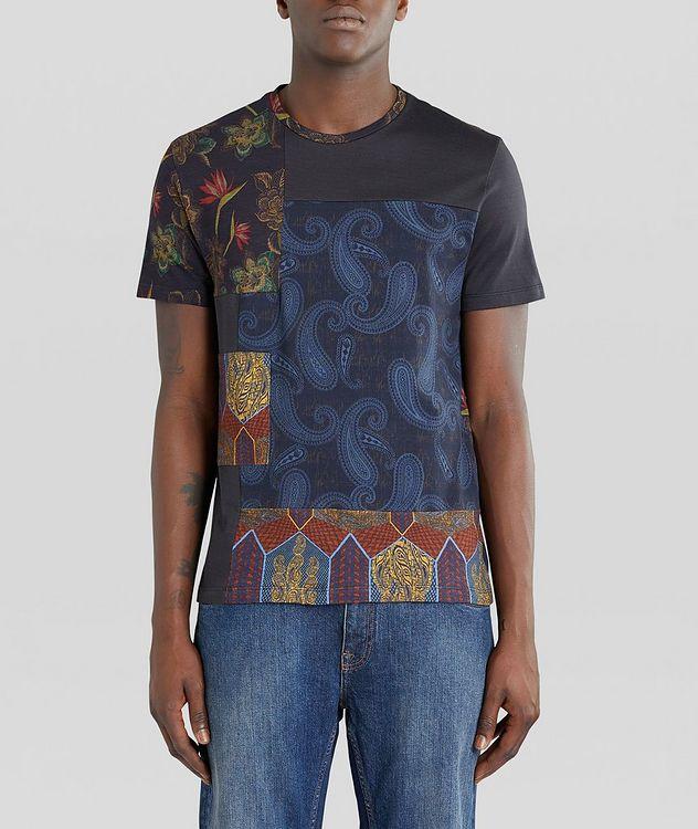 Floral Patchwork Cotton T-Shirt picture 2