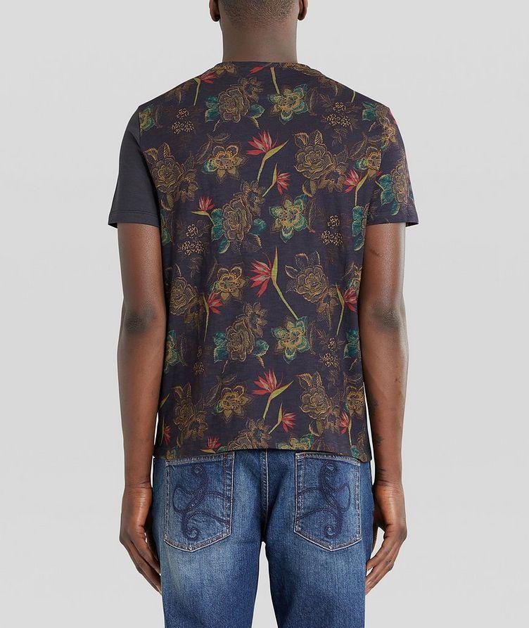 Floral Patchwork Cotton T-Shirt image 2