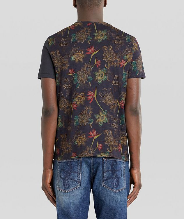 Floral Patchwork Cotton T-Shirt picture 3