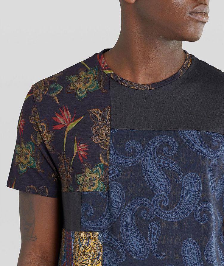 Floral Patchwork Cotton T-Shirt image 3