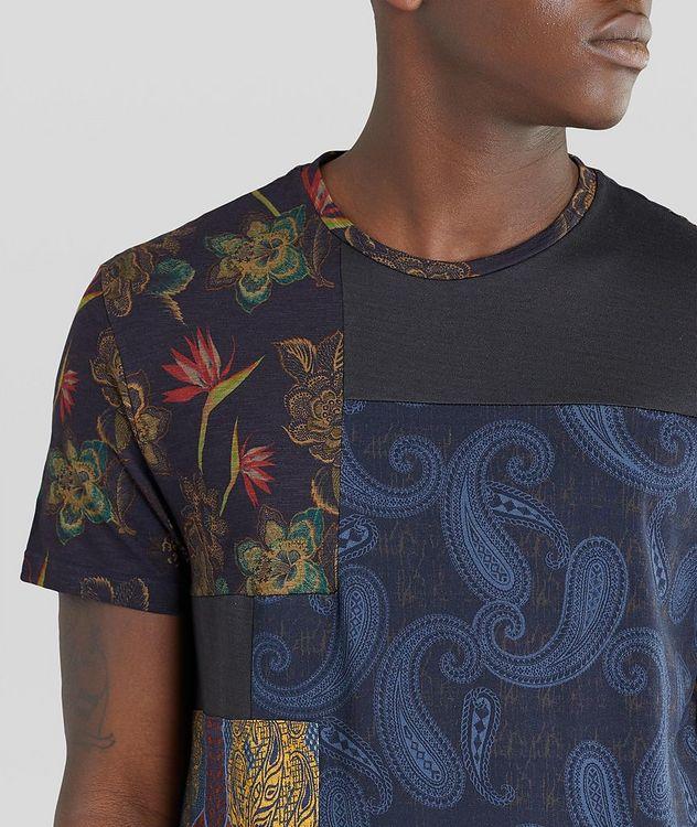 Floral Patchwork Cotton T-Shirt picture 4