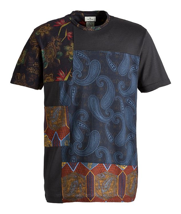 Floral Patchwork Cotton T-Shirt picture 1